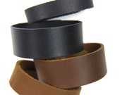 12 Narrow Cuff Bracelets Supple Chrome Tanned Leather