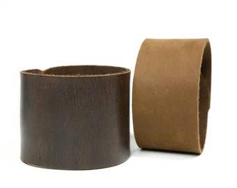 """Leather jewelry supplies Bracelet Cuff Blank Supple High-Quality Leather in 1.5 & 2"""" widths"""
