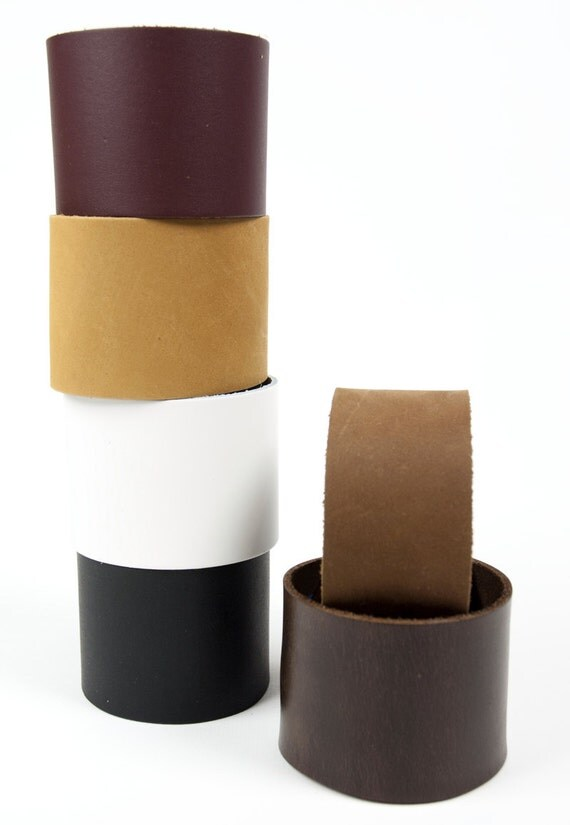 "Leather Bracelet Cuff Blank (customize size) Supple High-Quality Leather in 1.5 & 2"" widths"