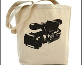 Buy2 Get1 Free - Video Camera - Eco Friendly Multipurpose Canvas Tote Bag (Style no. ct141)