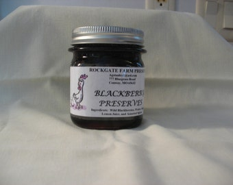 Old Fashioned Blackberry Preserves, 8 oz Jar