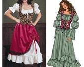 Wench Pirate SCA Renaissance Garb Pattern Skirt Bodice Chemise Butterick 3906 Size 12 14 16
