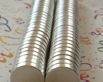 100 Pack Super Strong Neodymium Rare Earth Magnets  1/2 inch x 1/8 inch (13-08-119)