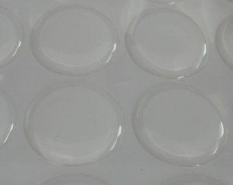 300 Pack 1 inch Circle Clear Epoxy Domes, 25mm Circle Resin Stickers (01-05-180)