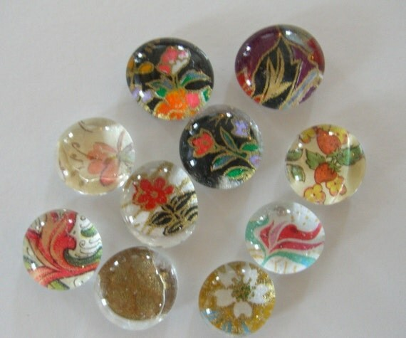 clearance 200 flat back glass marbles for your magnets and