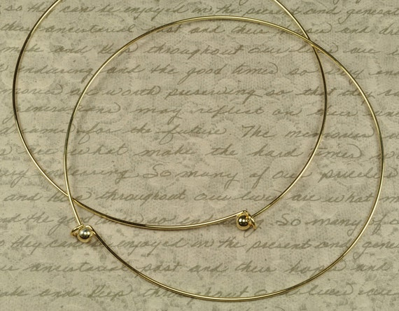 2 Metal Choker Necklaces Gold Colored