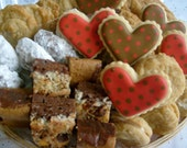 I LOVE YOU Assorted Cookie Brownie Basket - Cookie and Brownie Basket - Cookie Gifts