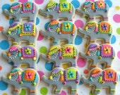 Circus Elephant Cookies - Elephant Decorated Cookies - 1 Dozen