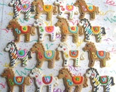 Reserved for Miguel----Carosel Horse Cookies - Horse Cookies - 1 Dozen