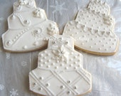 Winter Wonderland Wedding Cake Cookies - 4.00 each
