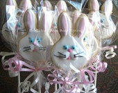 Bunny Cookie Pops - Bunny Cookies - 1 Dozen