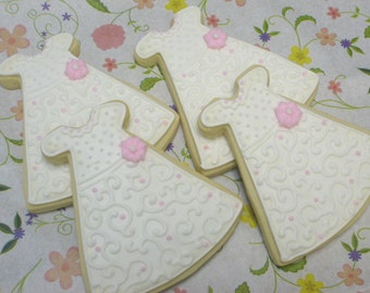 Christening Gown Cookies - 1 Dozen