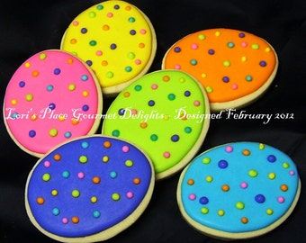 Speckled Easter Egg Cookies - Easter Cookies - Egg Cookies - 12 Cookies