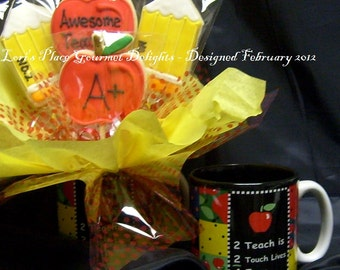 Teacher Cookie Bouquet - Teacher Gift - Teacher Cookies