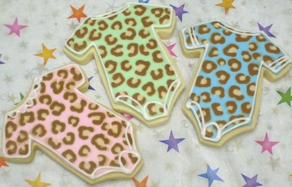 Reserved for Jessie-----Leopard Baby Onsies - 1 Dozen
