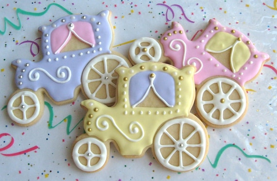 Princess Carriage Cookie Favors - 1 Dozen