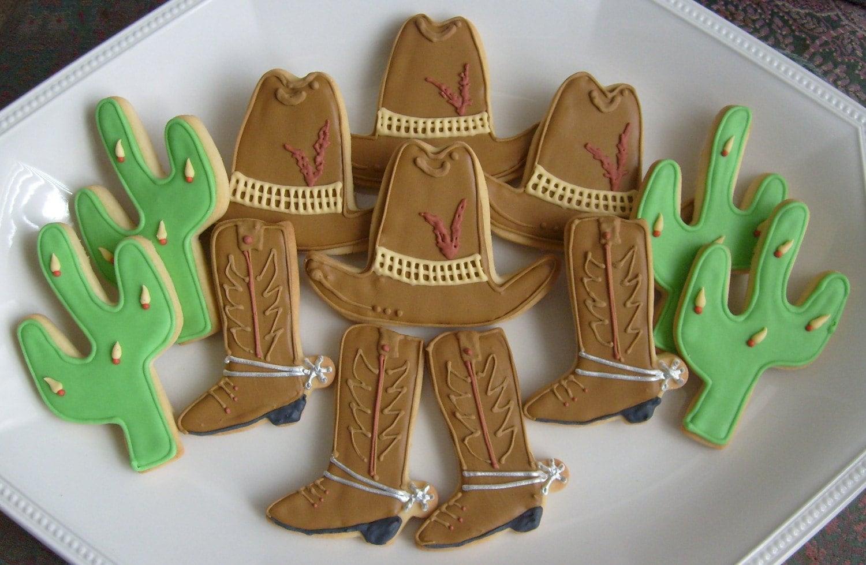 HEY COWBOY Cowboy Decorated Cookies Western by lorisplace