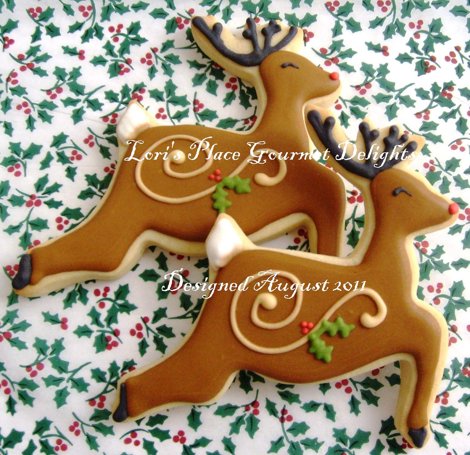 Reserved For JulieReindeer Decorated Cookies Christmas