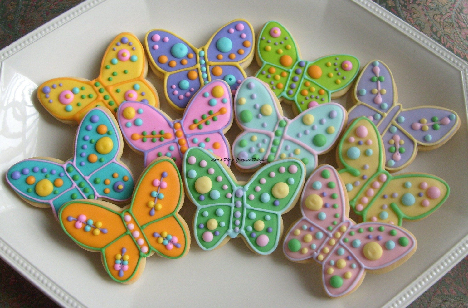 Large Butterfly Decorated Cookie Favors Butterfly Decorated