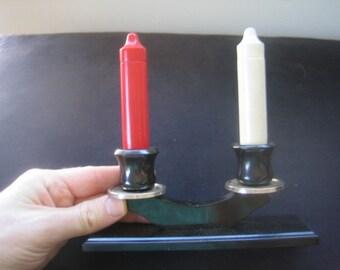 Collectible BAKELITE CATALIN SALT\/PEPPER SHAKERS Candlesticks