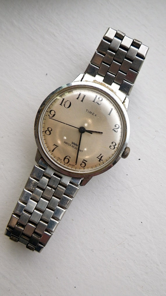 Vintage Stainless Timex - Silver Face