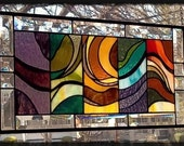 A PEACEFUL FLOW Stained Glass Window Panel
