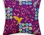 Toss Pillow - Japanese Echino Flower Bed Purple