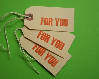 letterpress gift tags - 12
