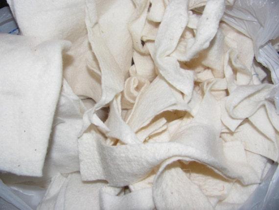 Warm and Natural Cotton Batting Scraps Small Pieces 12 oz bag