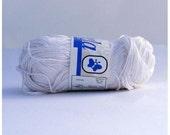 Pure Mercerized Cotton Yarn, White - 001-13