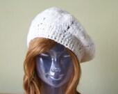 Handmade Crocheted Hood Biret Adult Size