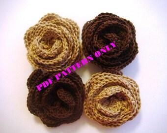 PDF CROCHET PATTERN - 3D Crocheted rose