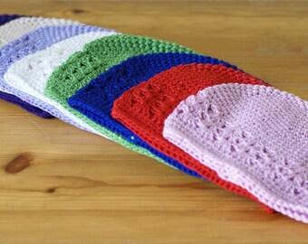 Newborn 0-3 Months White handmade crochet baby hat
