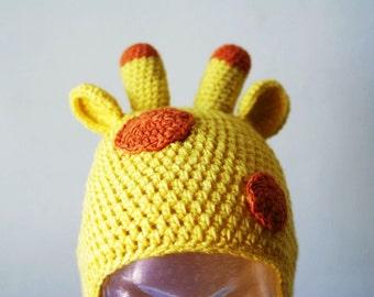 Halloween Cartoon Giraffe Handmade Crocheted Children Autumn Hat