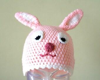 Halloween Cartoon Rabbit Handmade Crocheted Children Autumn Hat