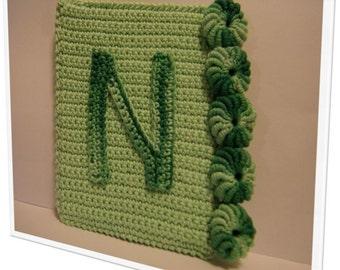 """Cute crochet alphabet - """"N"""". Door frame or closet"""
