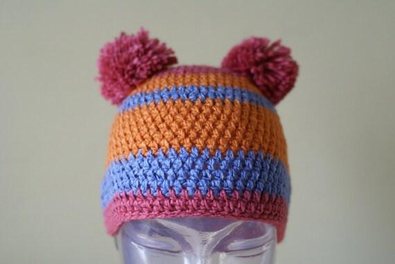Cute Warm Hat Handmade Crocheted Children Hat