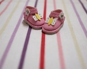 Blythe Colorful Butterfly Shoes - pink