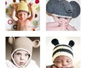Animal Hat Patterns Get One Free Newborn to 3 years