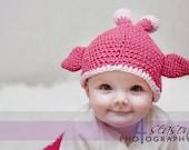 Giraffe Baby Hat custom colors MADE TO ORDER Choose size Newborn-Toddler