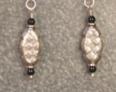 simple chic ONYX and STERLING SILVER earrings