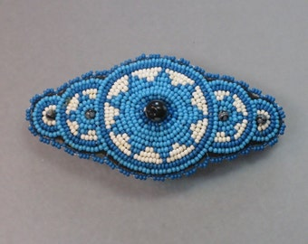 "3"" best quality seed beaded and gemstone or swarovski crystal HAIR BARRETTE"