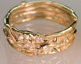 Recycled Gold Wedding Band - Womens