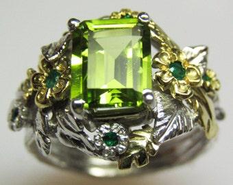 Peridot & Emerald Empress Ring