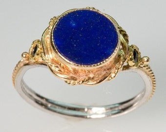 Starry Night Lapis Ring - in 14K Gold