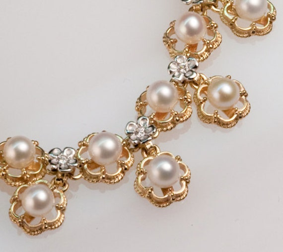 Pearl & Diamond Princess Bracelet