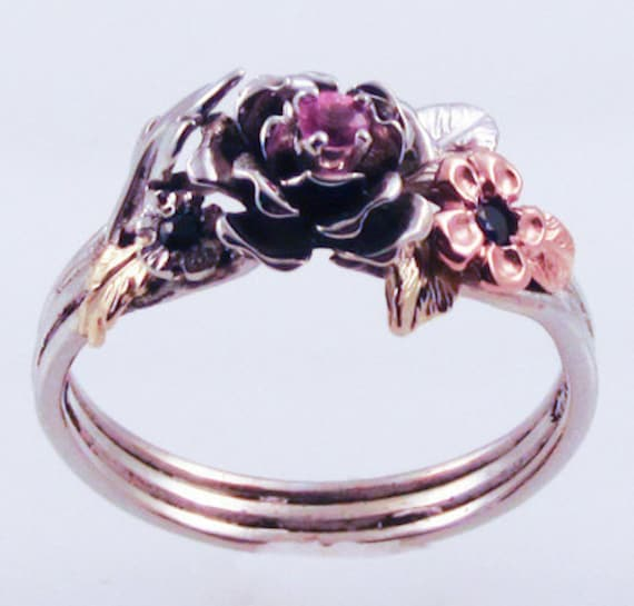 The Rose Ring - in recycled silver and 18K gold