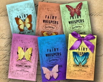 INSTANT DOWNLOAD Digital Collage Sheet Gift Tags or Jewelry Holders 2.5 X 4 inch - DigitalPerfection digital collage sheet 594