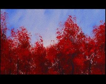 Forest Tree Landscape Art Large Art Forest Painting Original Landscape Tree Art on Canvas Hand Painted Landscape Tree Large Painting by DROB