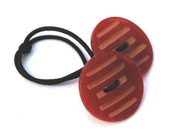 Hair Accessory - Vintage Bakelite Buttons, Butterscotch Wafers